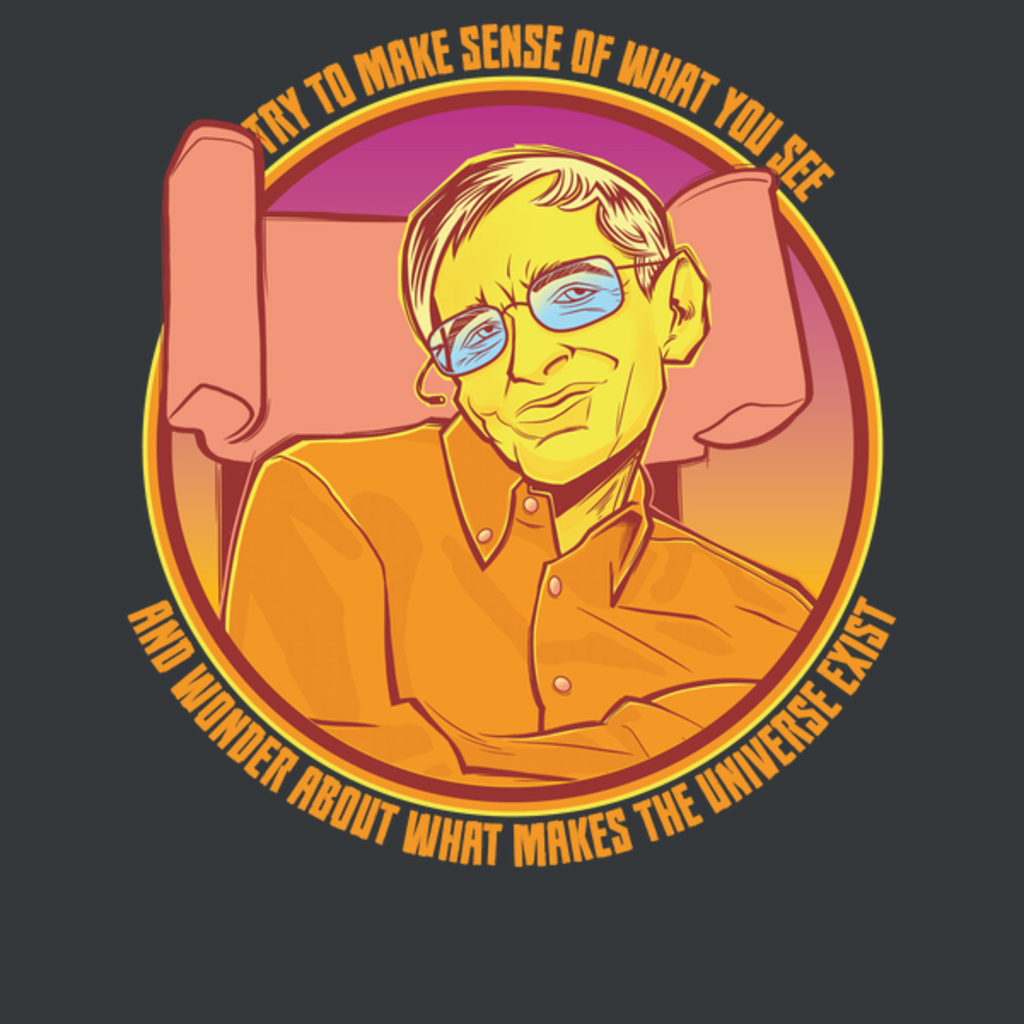NeatoShop: Inspirational Scientist Hawking Quote Shirt - Try to make Sense of the Universe