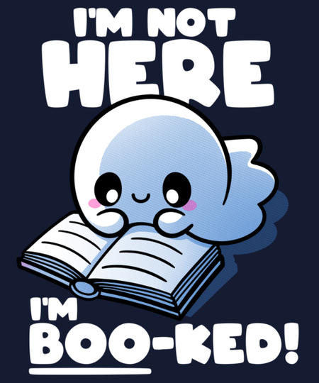 Qwertee: Booked ghost