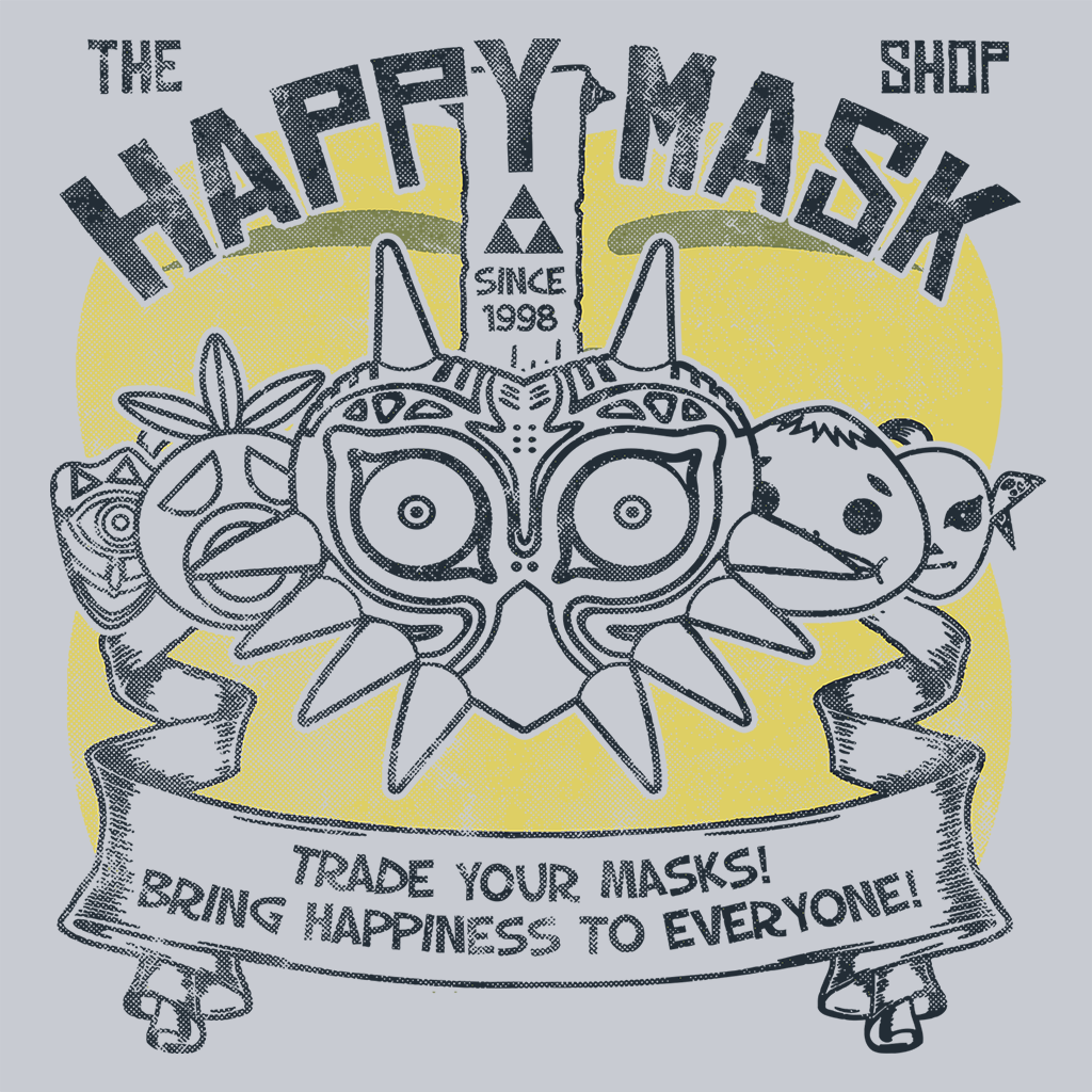 Pop-Up Tee: The Happy Mask Shop