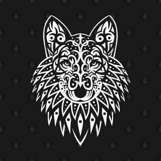 TeePublic: Tribal wolf