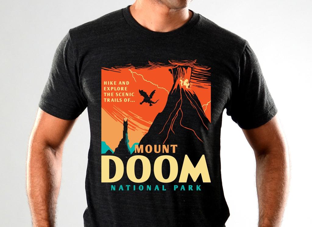SnorgTees: Mount Doom National Park Limited Edition Tri-Blend