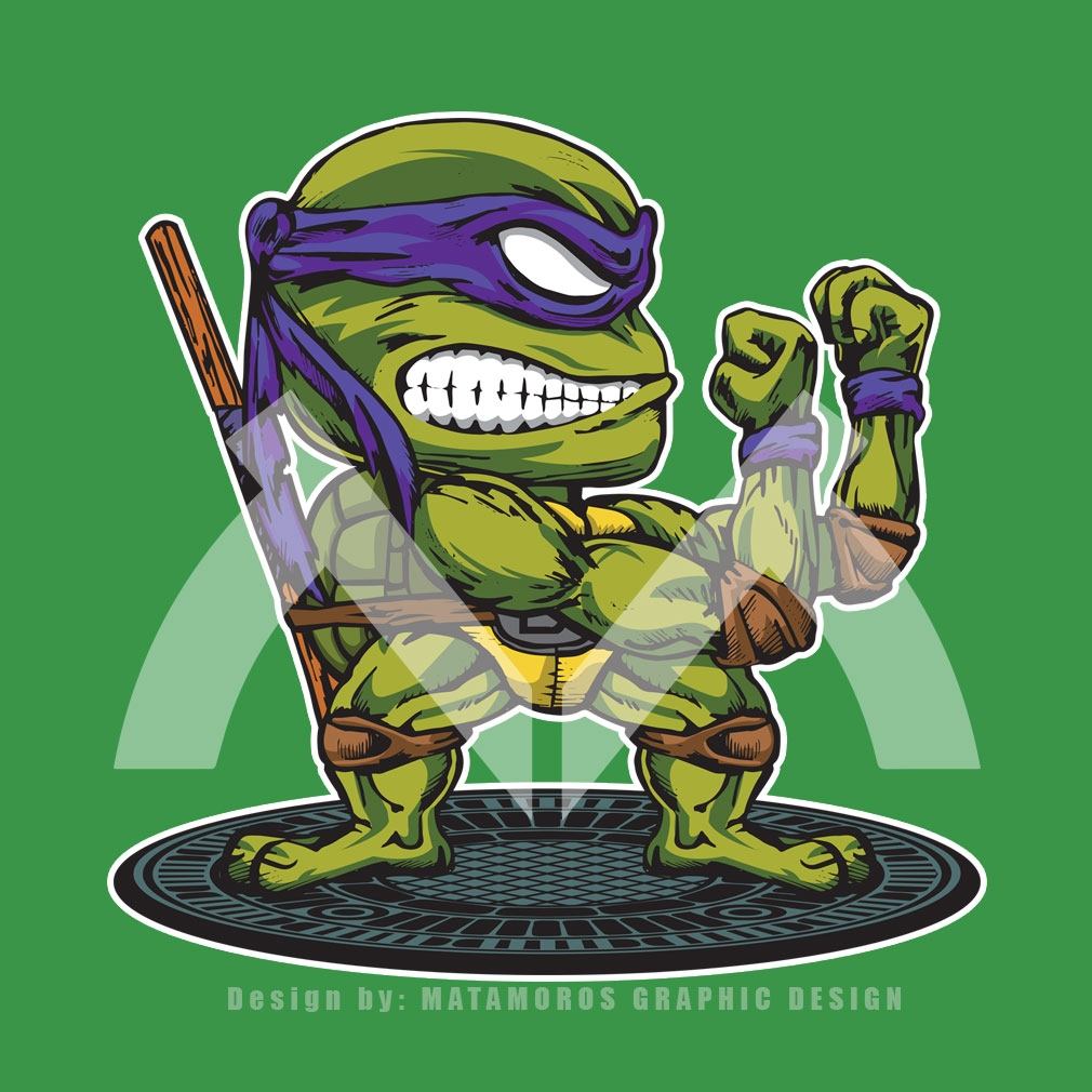 TeeTournament: FIGHTING TURTLE DONATELLO