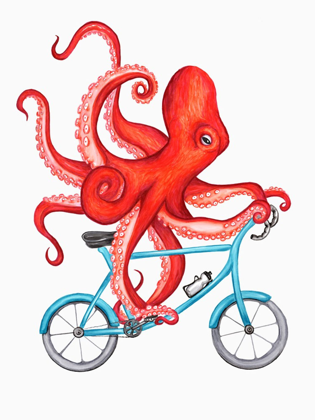 RedBubble: Cycling octopus