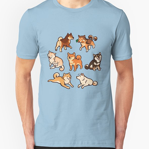 RedBubble: shibes in blue