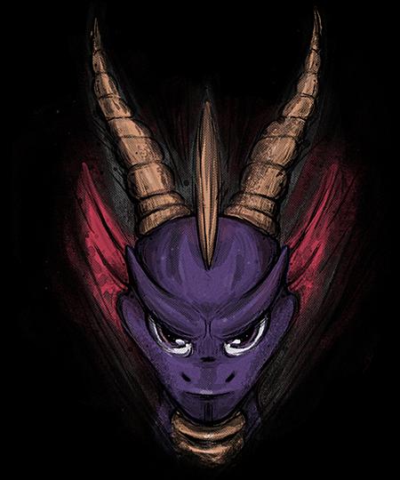 Qwertee: Purple Dragon