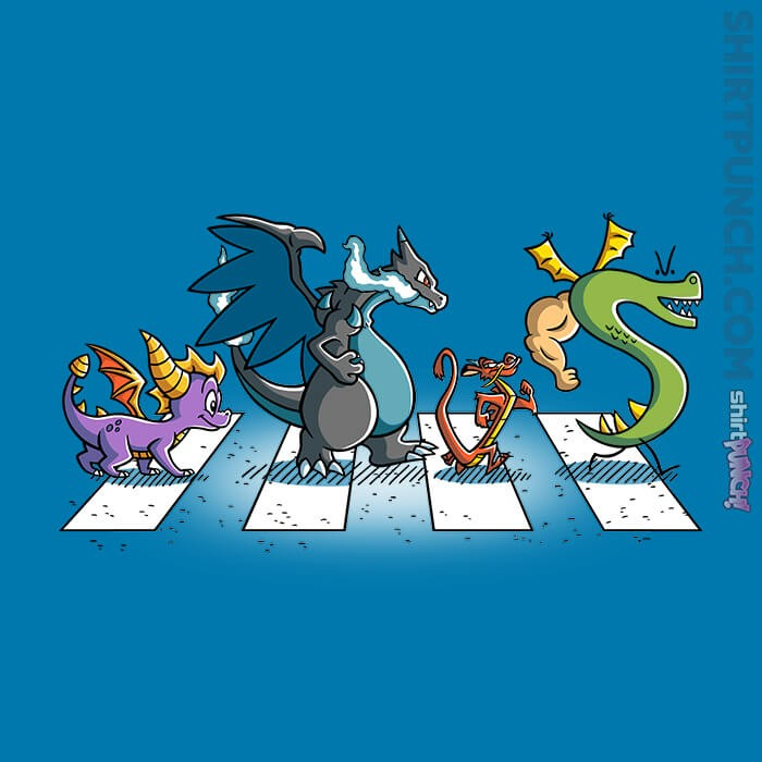 ShirtPunch: Dragons On Abbey Road