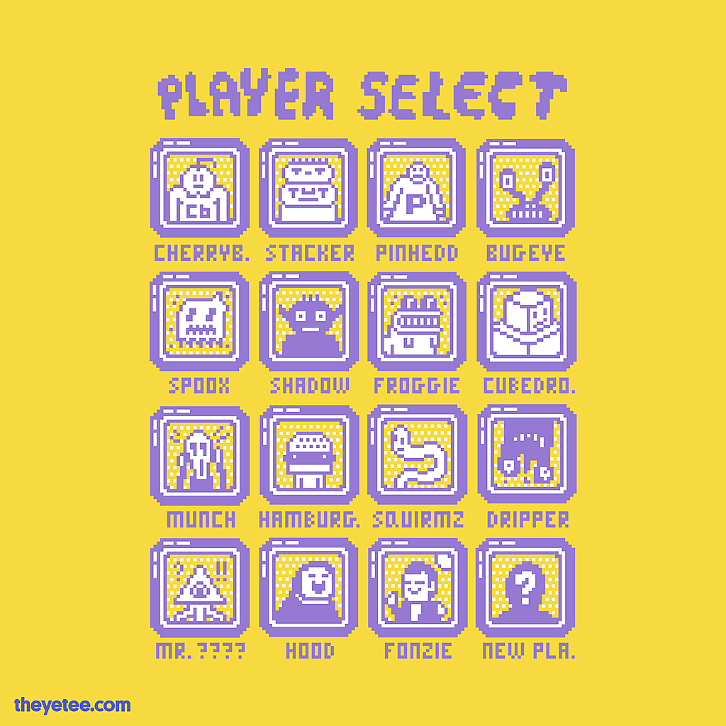 The Yetee: Player Select