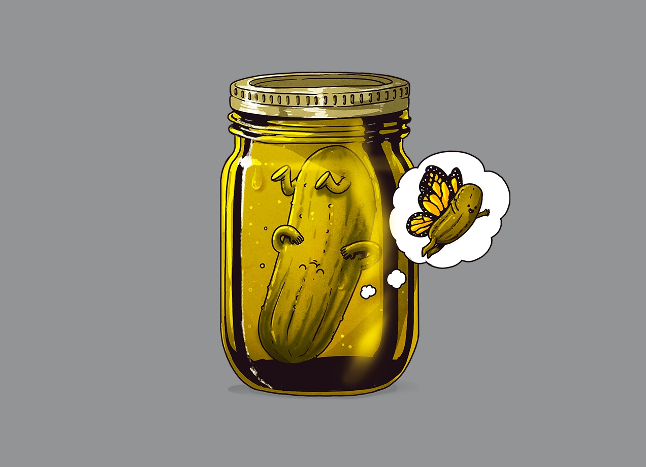 Threadless: Pickle Metamorphosis