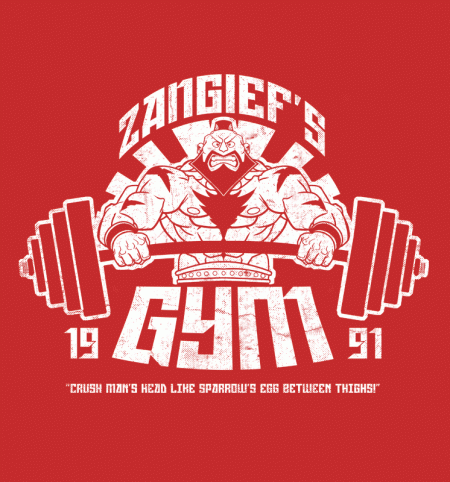 BustedTees: Zangiefs Gym