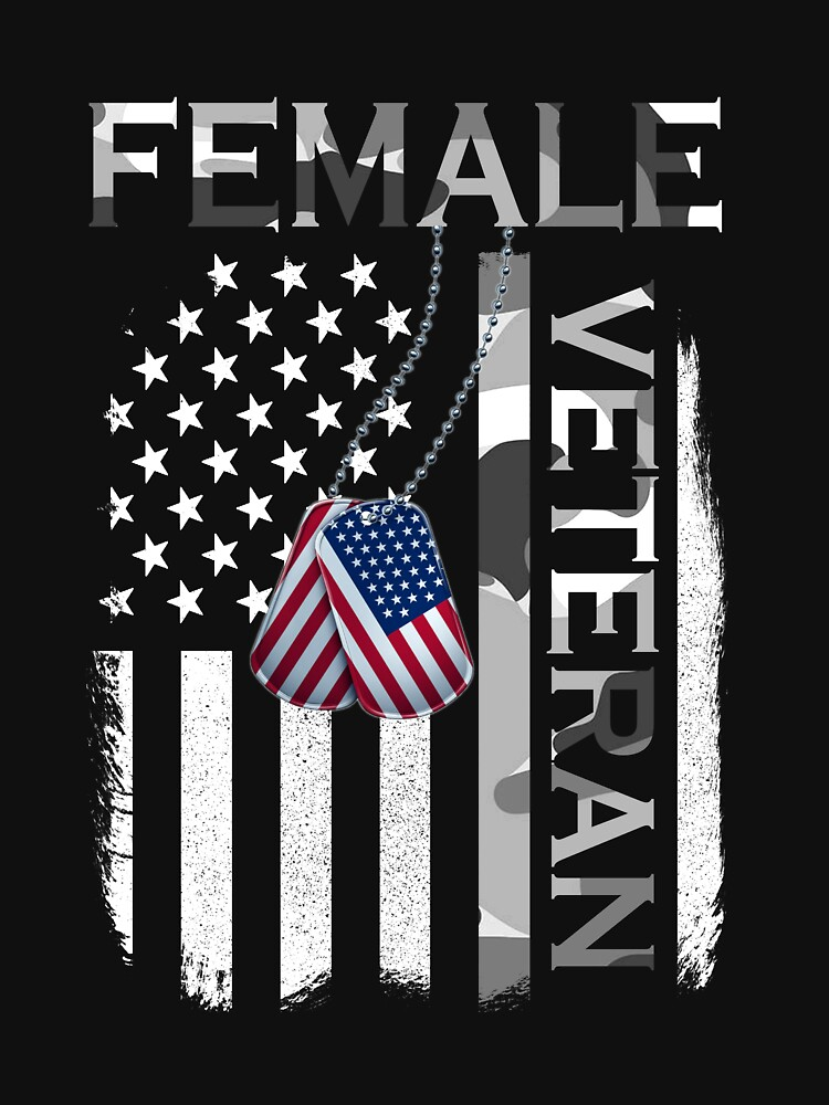 RedBubble: Female veteran woman vet shirt