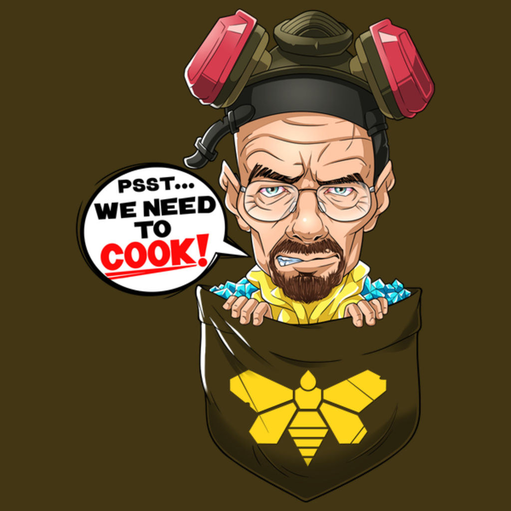 NeatoShop: Pocket Heisenberg Shirt Walter White Tee Breaking Bad We Need To Cook Meth