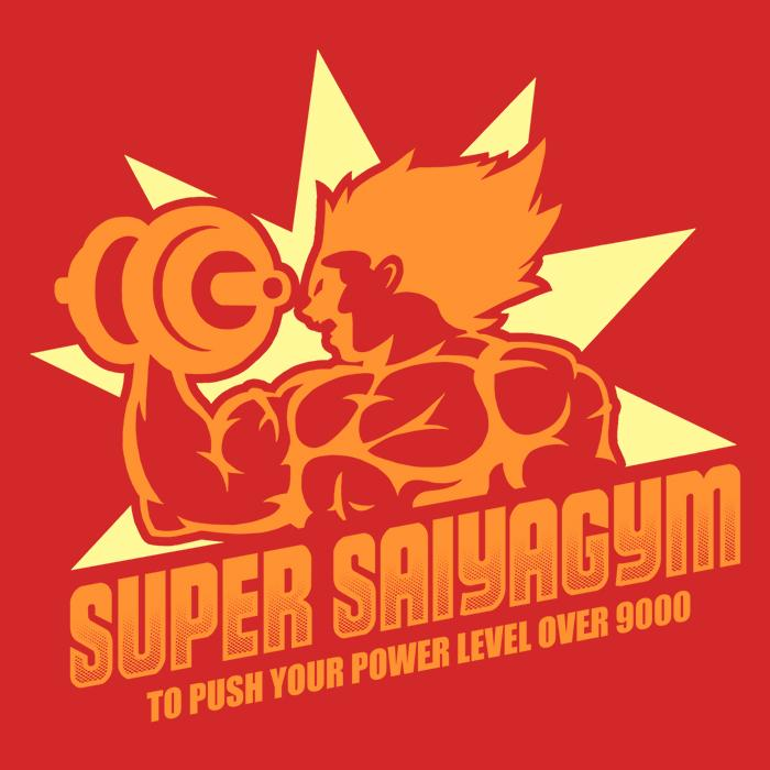 Once Upon a Tee: Super Saiya Gym