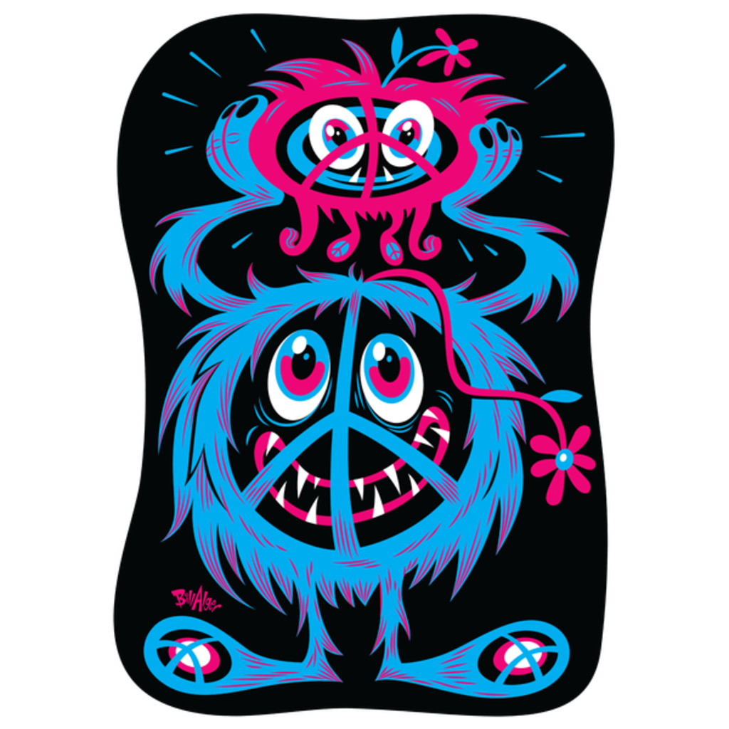 NeatoShop: Hippie Protest Monsters: A Little Peace In Our Time!