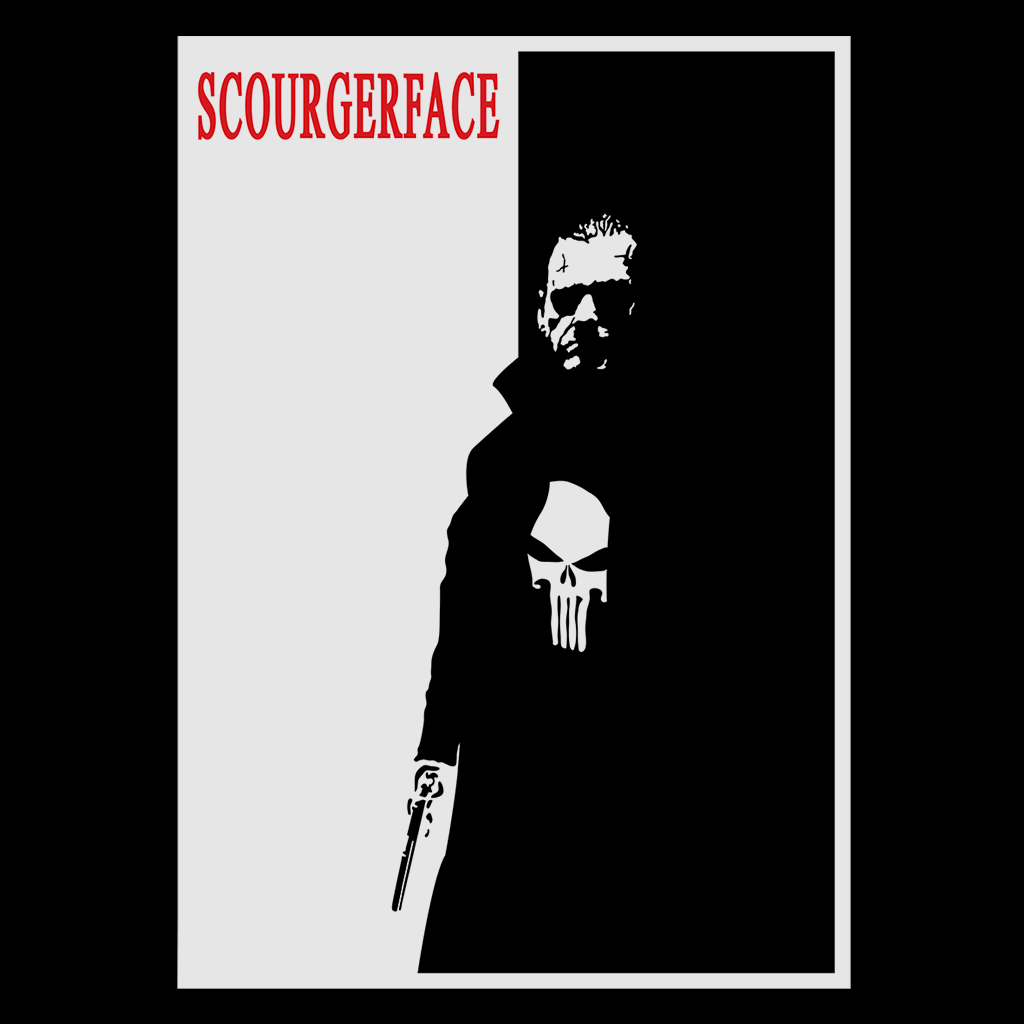 Pop-Up Tee: Scourger Face