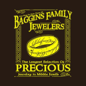 Five Finger Tees: Baggins Family Jewelers T-Shirt