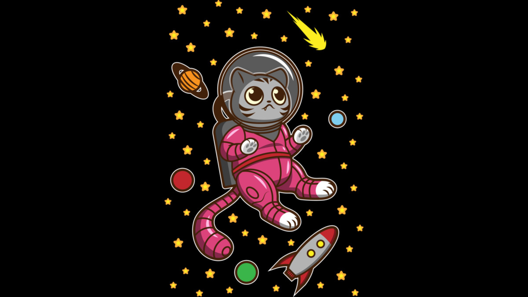 Design by Humans: Kitty Cat in Space