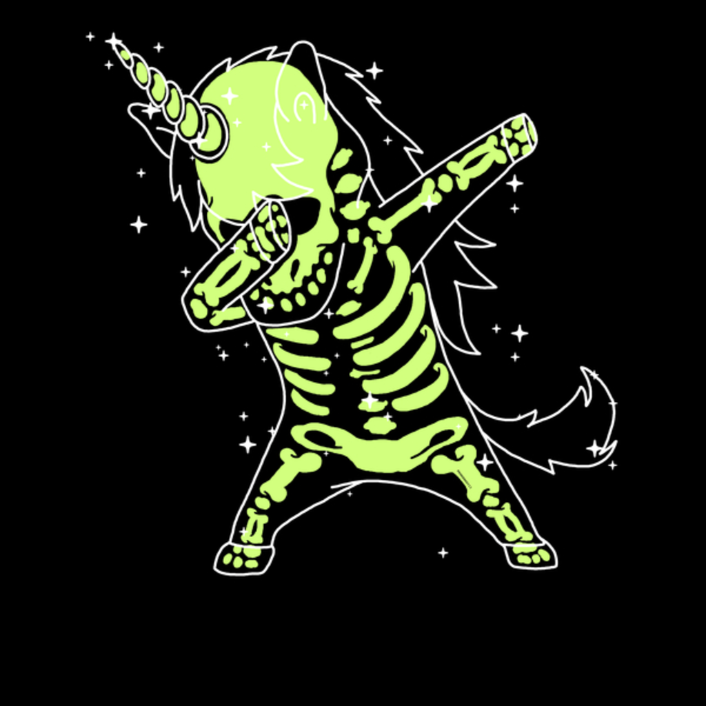 NeatoShop: Dabbing Unicorn Skeleton Shirt Dab Hip Hop X-Ray Glow Effect
