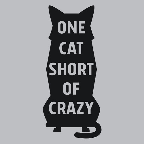 Textual Tees: One Cat Short of Crazy