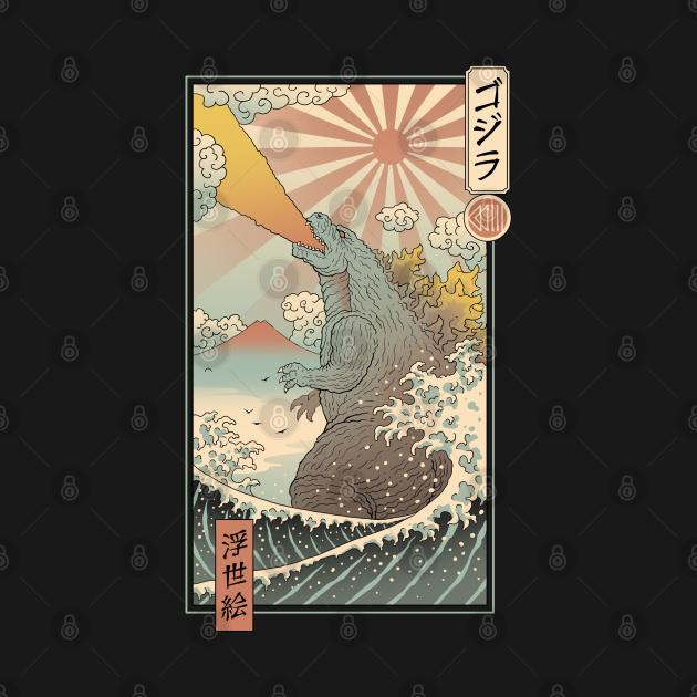 TeePublic: King Kaiju Ukiyo-e