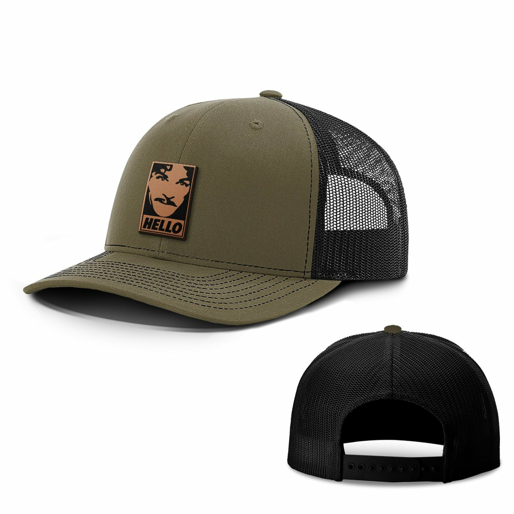 BustedTees: Hello Leather Patch Hats