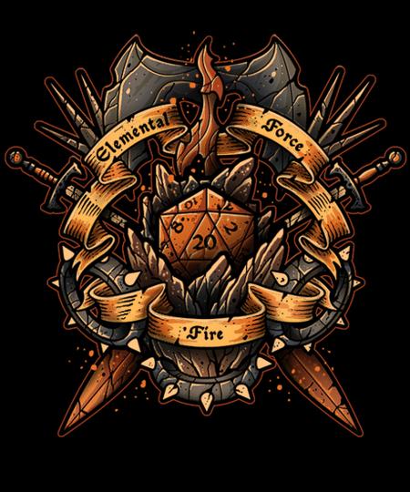 Qwertee: Elemental Force - Fire