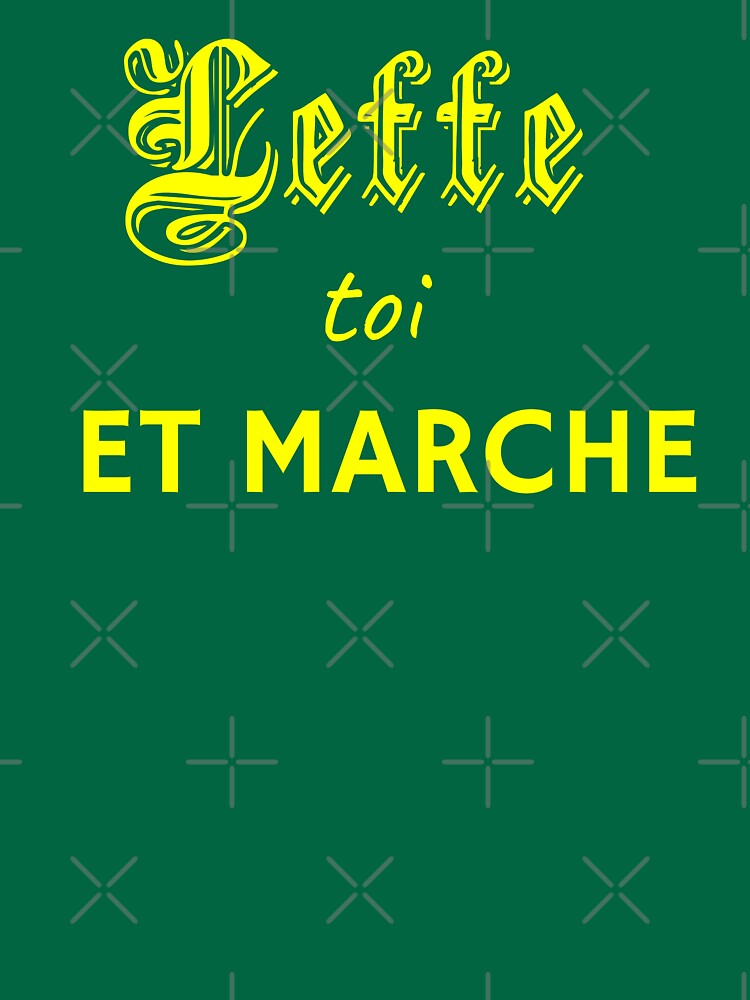 RedBubble: t-shirt plus green and yellow cousin: leffe toi et marche