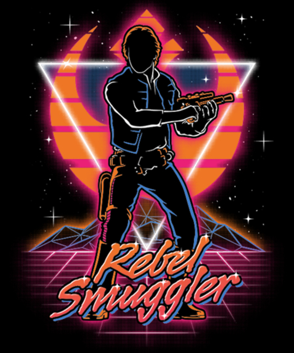 Qwertee: Retro Rebel Smuggler