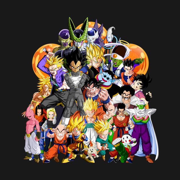 TeePublic: Dragon Ball Z - Another Character Collage