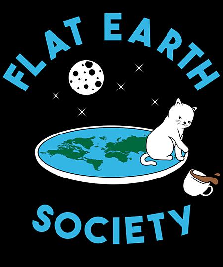 Qwertee: Flat earth cat