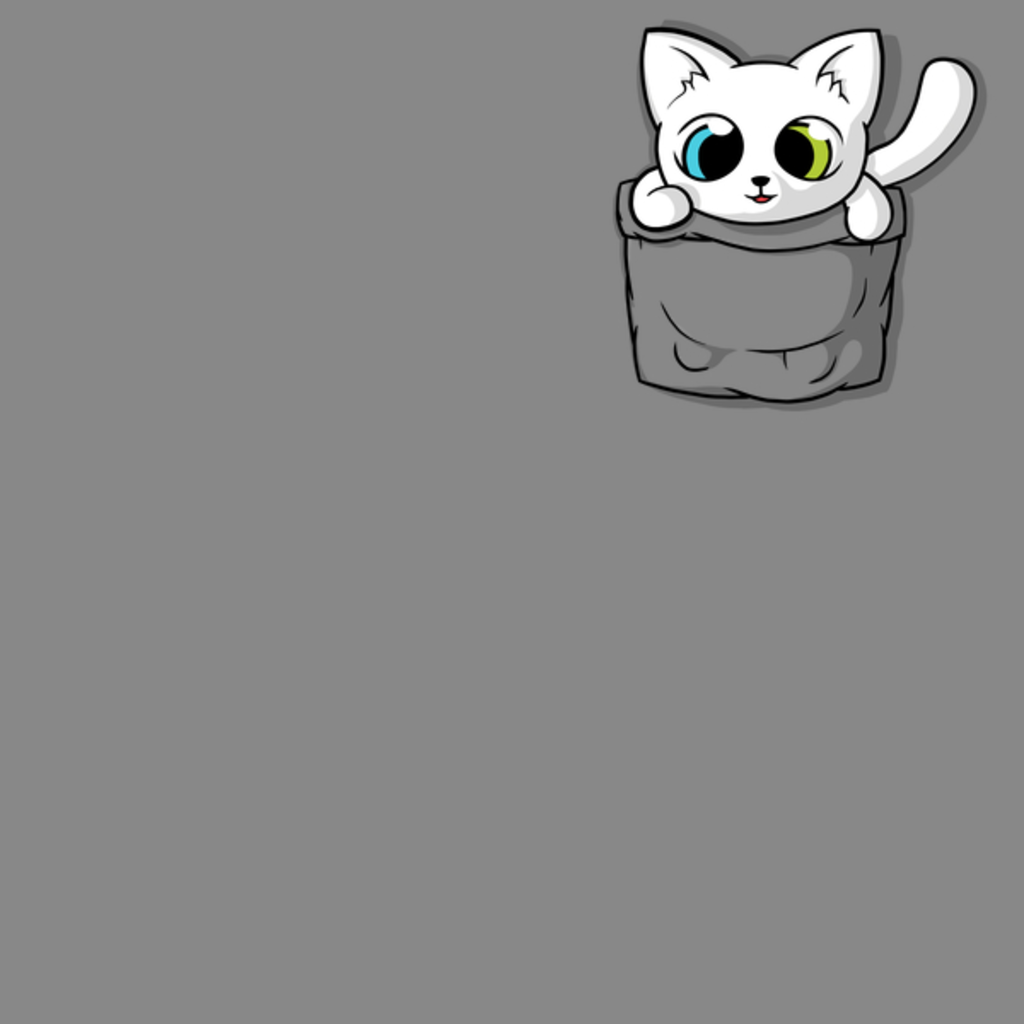 NeatoShop: Cute White Pocket Cat
