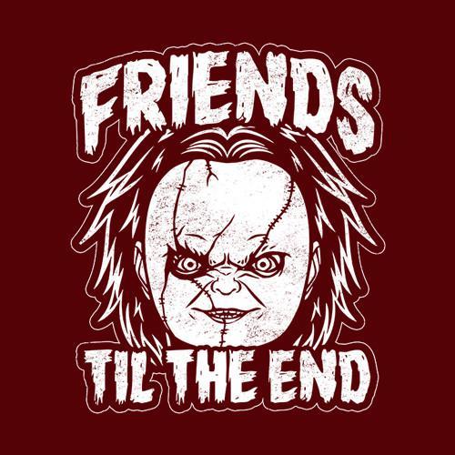 Five Finger Tees: Friends Til The End Chucky T-Shirt