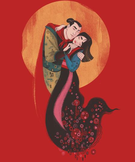 Qwertee: Warrior Kiss