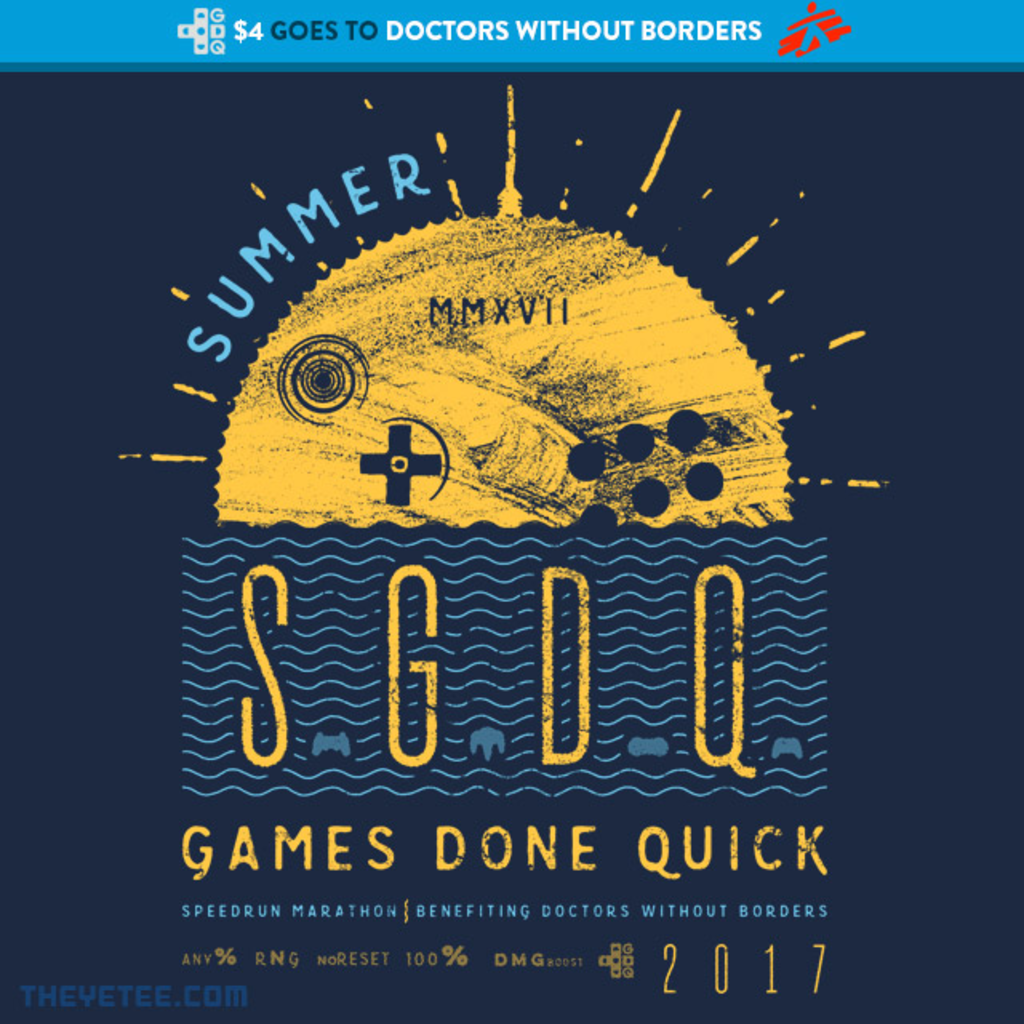 The Yetee: SGDQ Event Tee