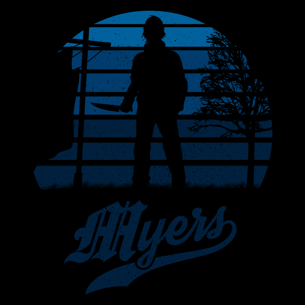 Pop-Up Tee: Horror Sun Set Myers