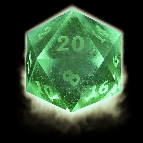 NeatoShop: Ice d20 - green