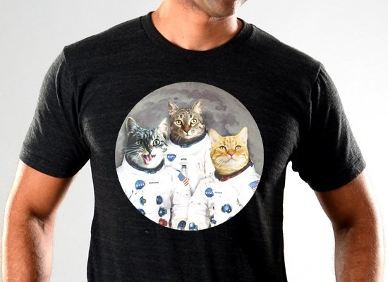 SnorgTees: Catstronauts Limited Edition Tri-Blend