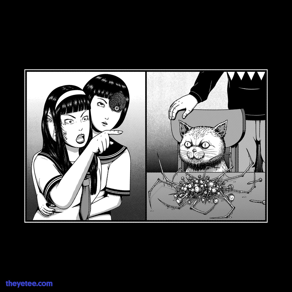 The Yetee: Gore Girl Yelling at a Creepy Cat