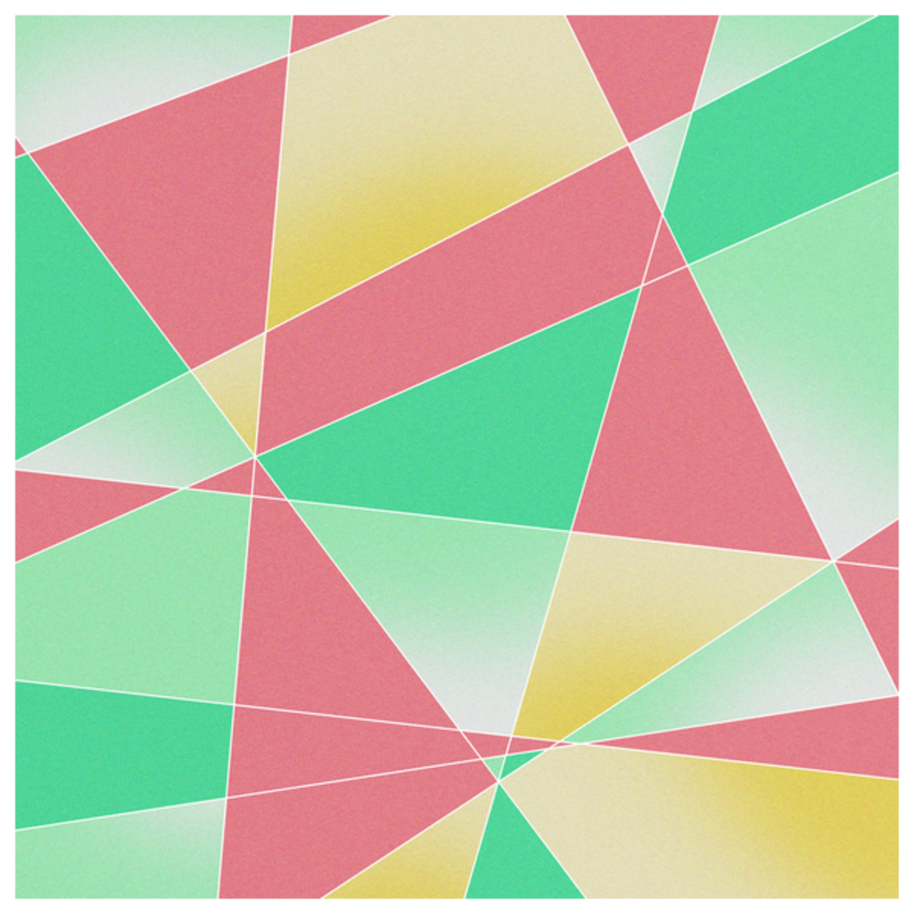 NeatoShop: Geometric Fractal Strawberry Mint Ice Cream