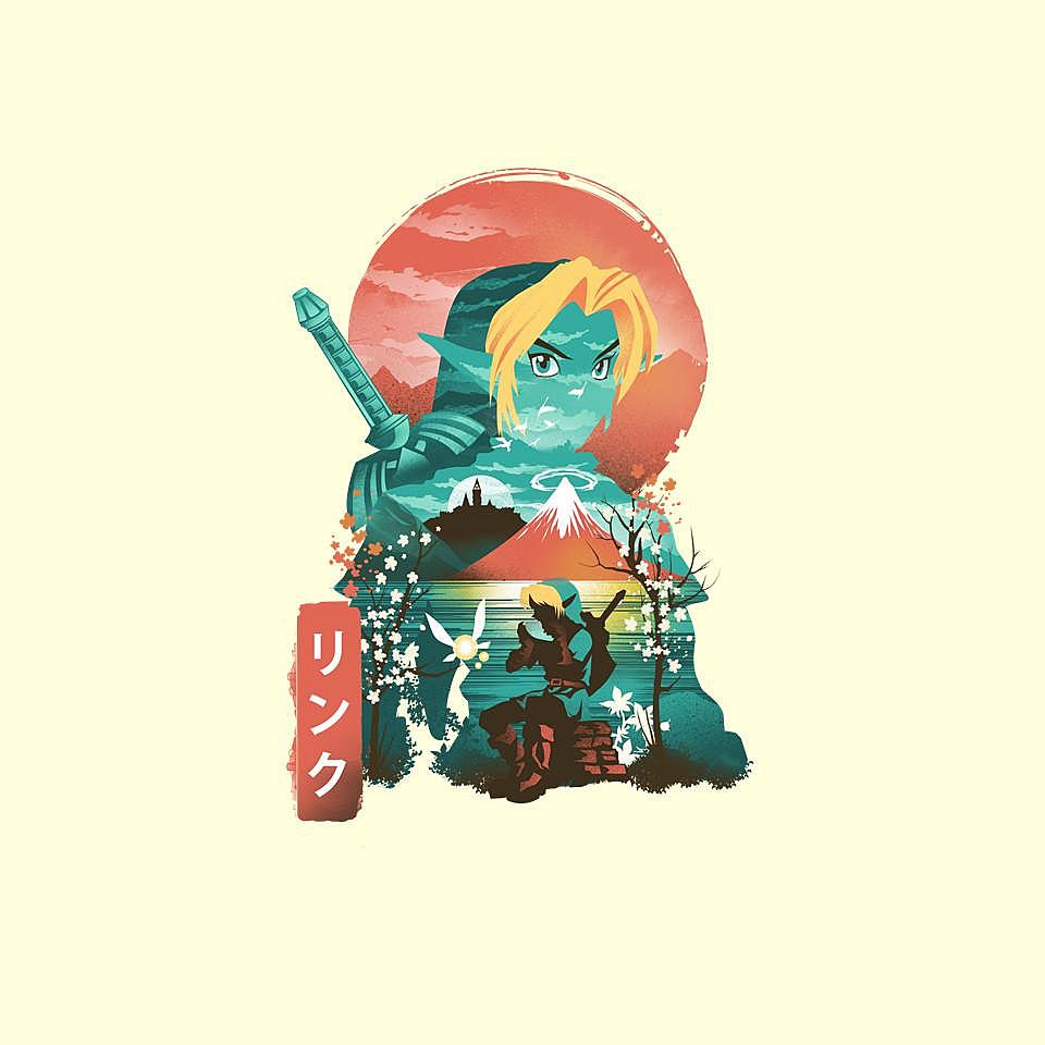 TeeFury: Ukiyo-E Hyrule Hero