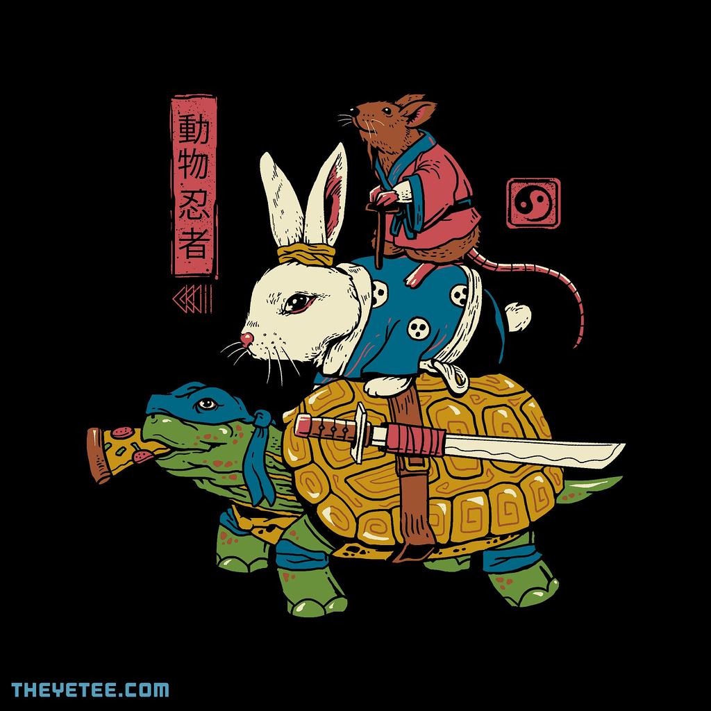 The Yetee: Kame, Usagi and Ratto Ninjas