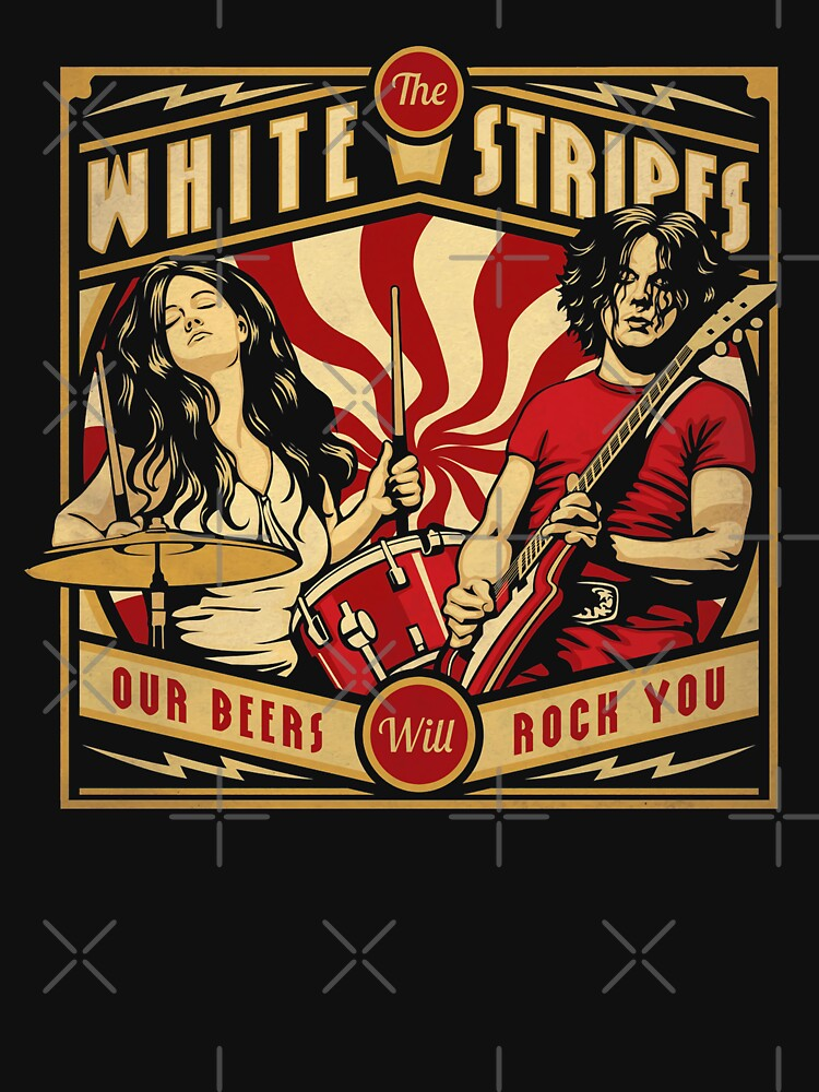 RedBubble: Jack and Meg Stripes