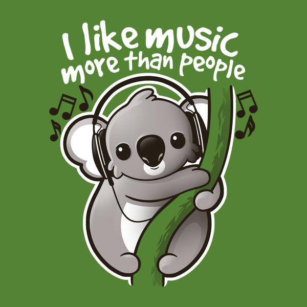 NeatoShop: Koala likes music more than people
