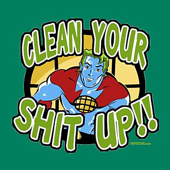 BustedTees: Clean up your shit