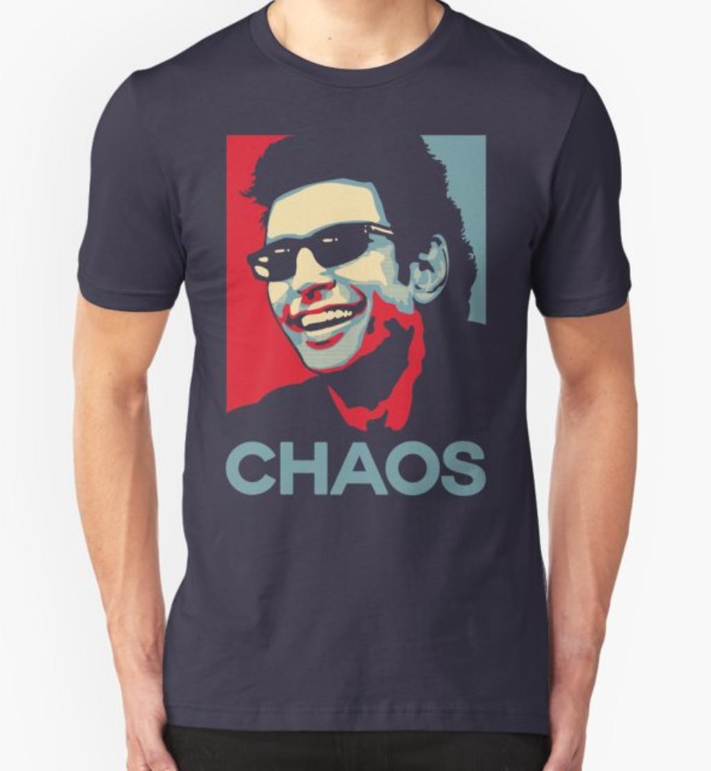 RedBubble: Ian Malcolm 'Chaos' T-Shirt