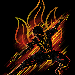 Qwertee: the fire bender
