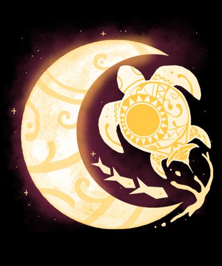 Qwertee: Turtle Moon