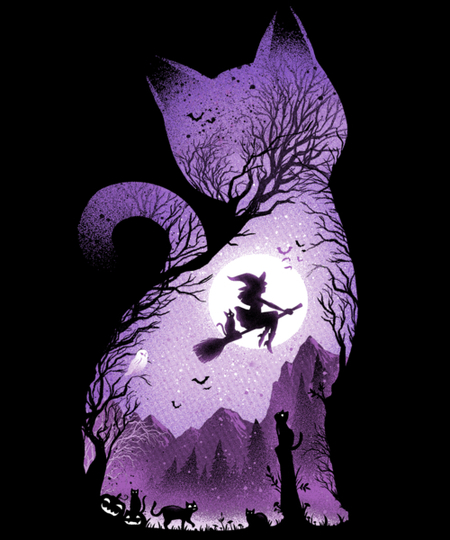 Qwertee: Witch's cat