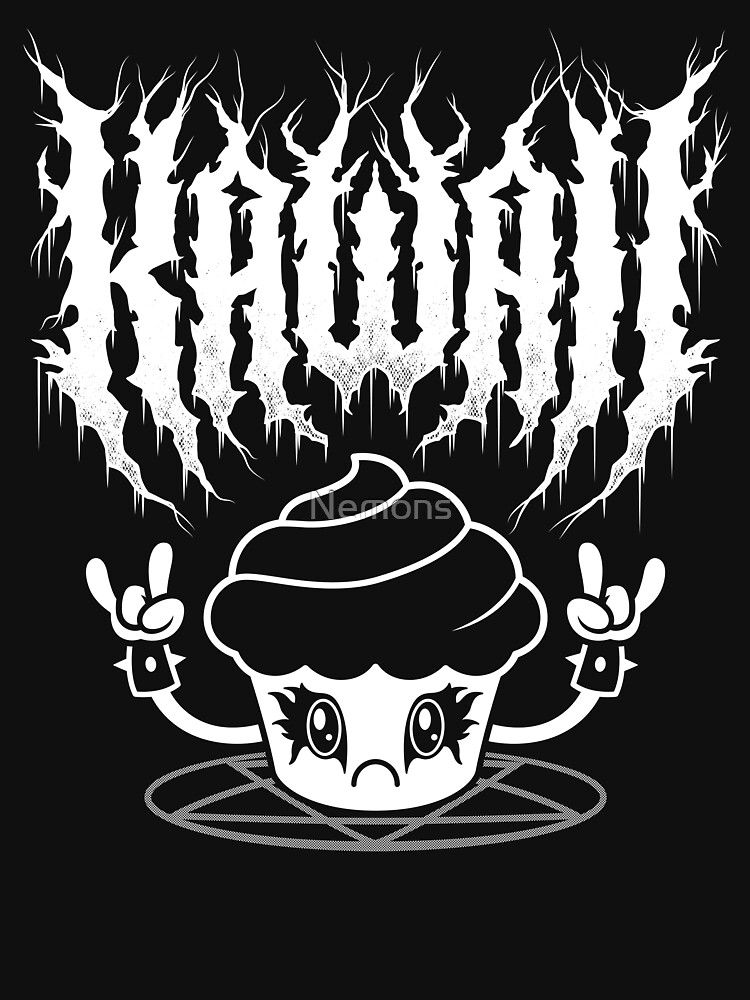 RedBubble: Kawaii Cupcake Black Metal Logo - Creepy Cute - Funny Spoopy Goth