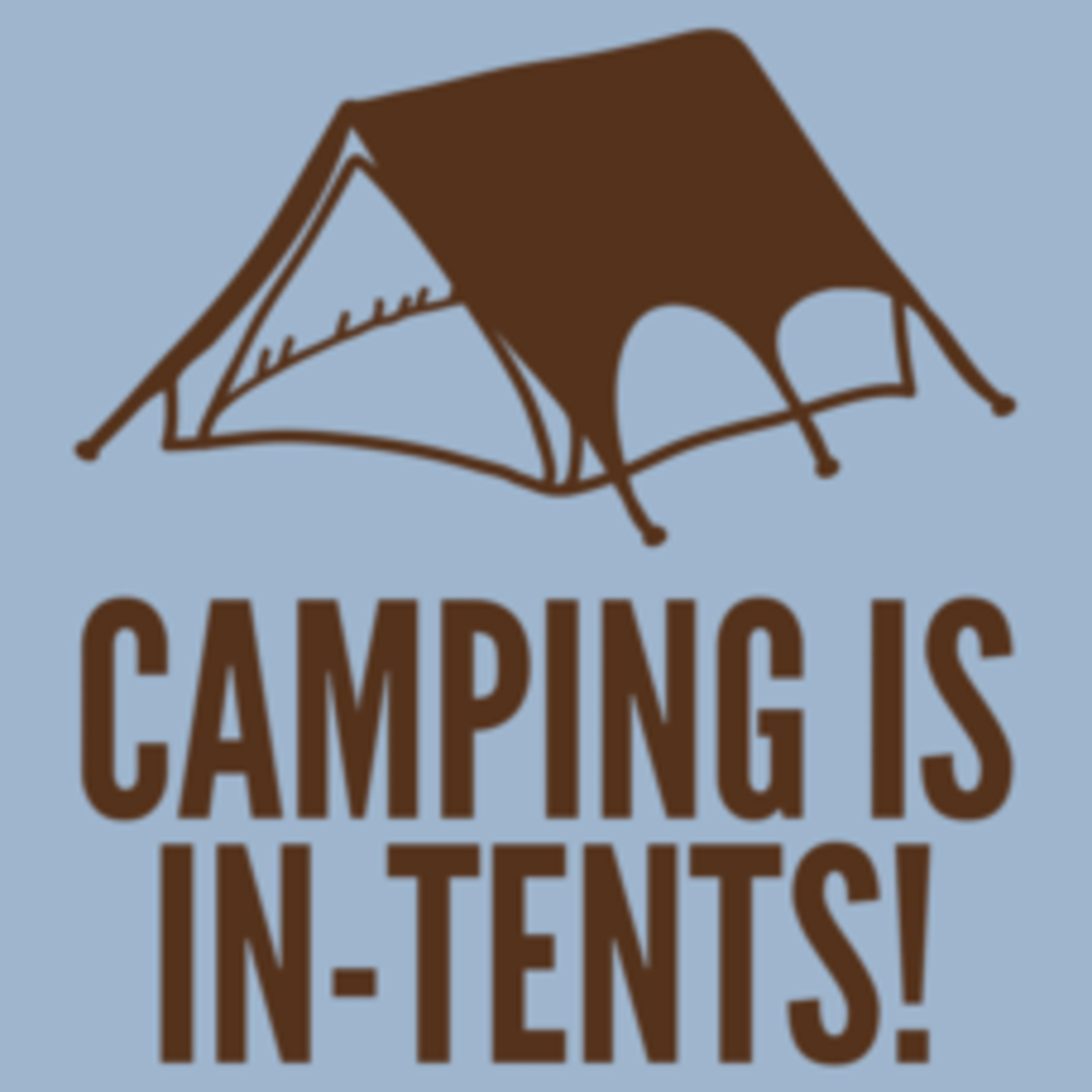 Textual Tees: Camping Is In Tents