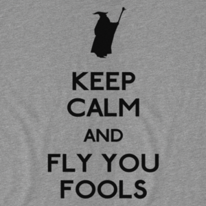 Pop-Up Tee: Keep Calm You Fools